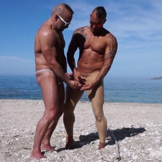 Spandex Fetish Beach