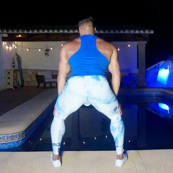 ICIW Running tights White/Blue