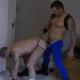 Cumming through our tights