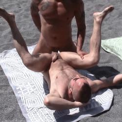 Thonged at the nudist beach