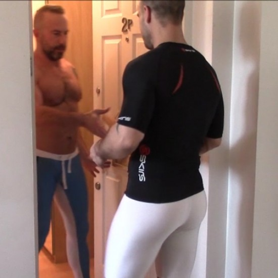 Delivery man in spandex
