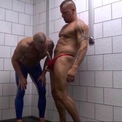 Gym showers fuck